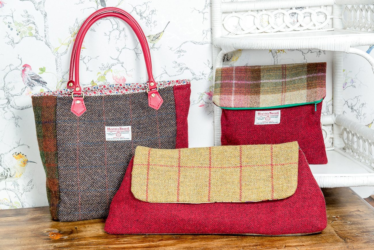harris tweed purses and bags